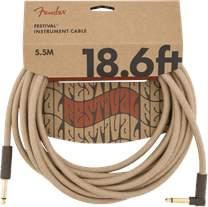 FENDER Festival Instrument Cable 18.6' Pure Hemp Natural