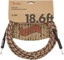 FENDER Festival Instrument Cable 18.6' Rainbow