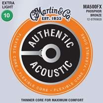 MARTIN SP Flexible Core 92/8 Phosphor Bronze Custom Light 12-String
