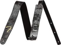 FENDER Celluloid Strap Black Moto