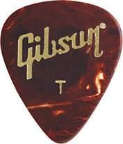 GIBSON Celluloid Guitar Picks Tortoise Thin