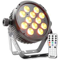 BEAMZ LED FlatPAR reflektor 12x10W RGBAW-UV