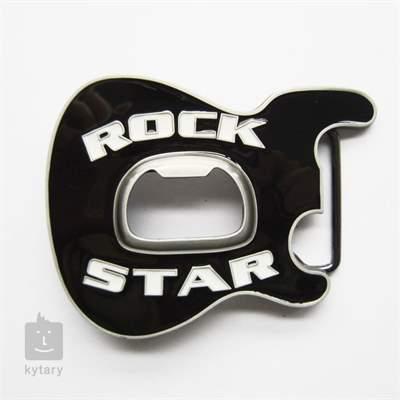 KYTARY.CZ Spona kytarová hlava RockStar černá Oblečení pro muzikanty