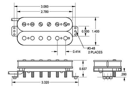 SEYMOUR DUNCAN SH-1N BLK 4C Snímač pro elektrickou kytaru