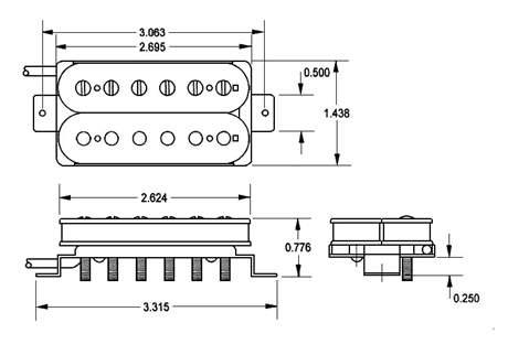 SEYMOUR DUNCAN SH-2N GCOV 4C Snímač pro elektrickou kytaru
