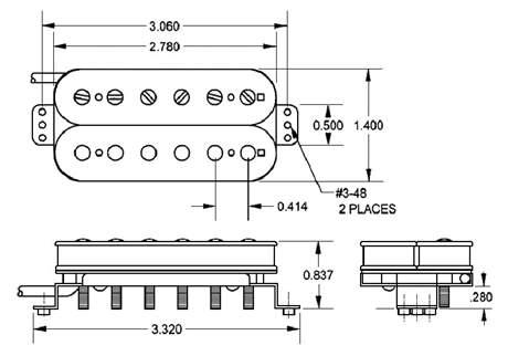 SEYMOUR DUNCAN SH-PG 1B BLK Snímač pro elektrickou kytaru