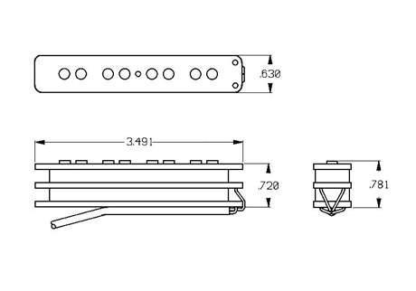 SEYMOUR DUNCAN STK-J2N BLK Snímač pro elektrickou baskytaru