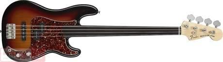 FENDER Tony Franklin Precision Bass Fretless EB 3SB Elektrická bezpražcová baskytara
