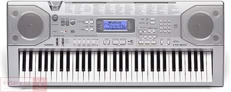 CASIO CTK-800 použité zboží Klávesy s dynamikou úhozu, USB, 61 kláves