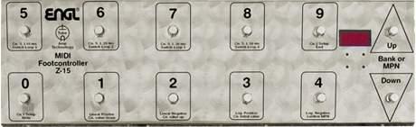 ENGL Z-15 Midi Footcontroler MIDI přepínač