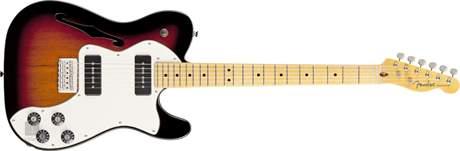 FENDER Modern Player Telecaster Thinline Deluxe MN 3SB Elektrická kytara
