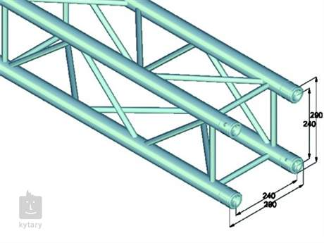 QUADLOCK QL-ET34-1500 4-way cross beam Konstrukce
