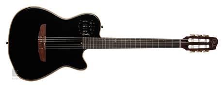 GODIN Multiac ACS-SA SLIM Nylon Black Pearl HG Elektroakustická midi kytara