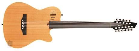 GODIN A11 Natural SG Fretless Elektroakustická jedenáctistrunná kytara