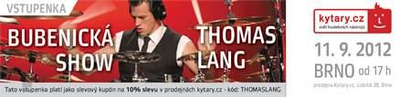KYTARY.CZ Thomas Lang - workshop - Brno Vstupenka na bubenický workshop