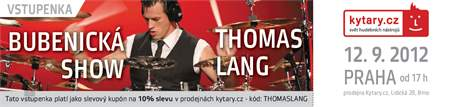 KYTARY.CZ Thomas Lang - workshop - Praha - VYPRODÁNO!!! Vstupenka na bubenický workshop