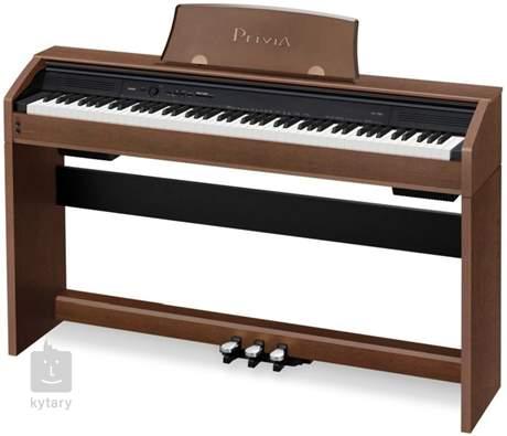 CASIO PX-750 BN Digitální piano se stojanem a třípedálem, hnědá