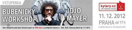 KYTARY.CZ JoJo Mayer - workshop - Praha Vstupenka na bubenický workshop