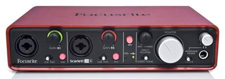 FOCUSRITE Scarlett 2i4 USB zvuková karta