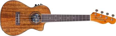 FENDER MinoAka Koa CE Concert NA Elektroakustické ukulele