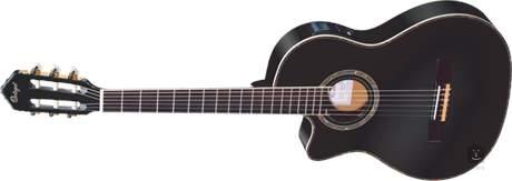 ORTEGA RCE145LBK Levoruká elektroakustická klasická kytara