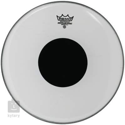 "REMO 14"" Controlled Sound Smooth White Black Dot Blána na tomy"