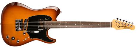 GODIN Session Custom TriplePlay Lightburst HG RN Elektrická midi kytara