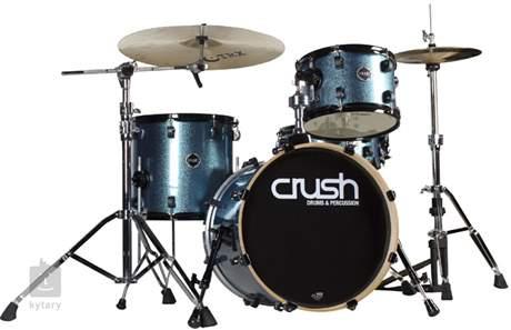 CRUSH Chameleon Birch Jazz set Blue Sparkle Wrap with Black Lug Inserts Bicí souprava bez činelů