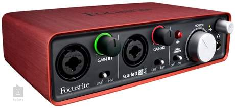 FOCUSRITE Scarlett 2i2 USB zvuková karta