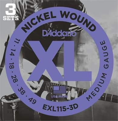 D'ADDARIO EXL115-3D Struny pro elektrickou kytaru