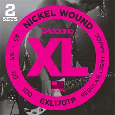 D'ADDARIO EXL170TP Struny pro baskytaru (2 sady)