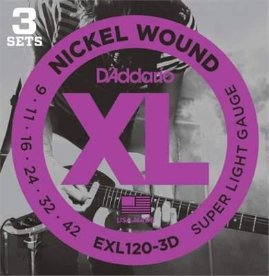 D'ADDARIO EXL120-3D Struny pro elektrickou kytaru