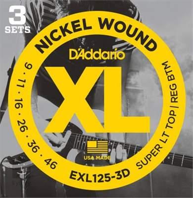 D'ADDARIO EXL125-3D Struny pro elektrickou kytaru