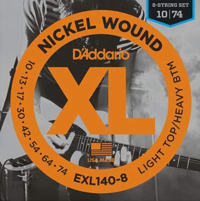 D'ADDARIO EXL140-8 Struny pro osmistrunnou elektrickou kytaru