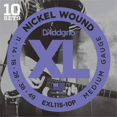 D'ADDARIO EXL115-10P Struny pro elektrickou kytaru