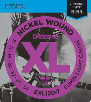 D'ADDARIO EXL120-7 Struny pro sedmistrunnou elektrickou kytaru