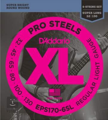 D'ADDARIO EPS170-6SL Struny pro šestistrunnou baskytaru