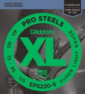 D'ADDARIO EPS220-5 Struny pro pětistrunnou baskytaru