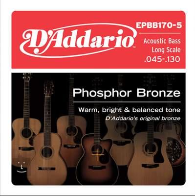 D'ADDARIO EPBB170-5 Struny pro pětistrunnou akustickou baskytaru