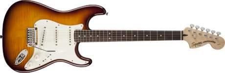 FENDER SQUIER Standard Stratocaster Flame Maple Top RW ASB Elektrická kytara