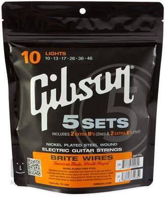 GIBSON Brite Wires 700L pack Struny pro elektrickou kytaru