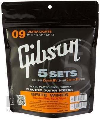 GIBSON Brite Wires 700UL pack Struny pro elektrickou kytaru