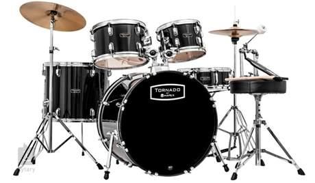 TORNADO Studio set Dark black Bicí souprava s činely