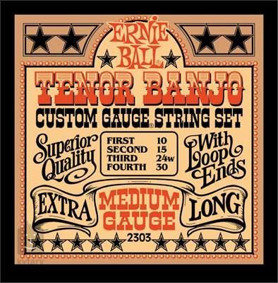 ERNIE BALL Stainless Steel Tenor Banjo Medium Struny pro tenor banjo