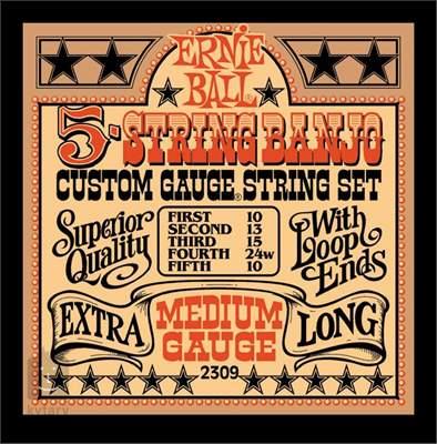 ERNIE BALL Stainless Steel Banjo Medium Struny pro pětistrunné banjo