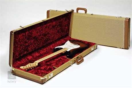 FENDER Multi-Fit Hardshell Case, Tweed w/ Red Poodle Plush Interior JB Kufr pro elektrickou baskytaru