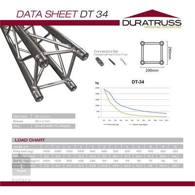 DURATRUSS DT 34-Circle Part-4m-90dgr Stavební konstrukce