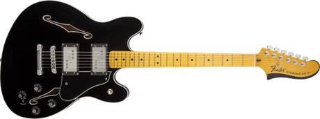 FENDER Starcaster MN BK Semiakustická kytara