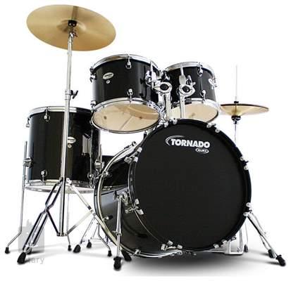 TORNADO Rock Set Dark black Bicí souprava s činely