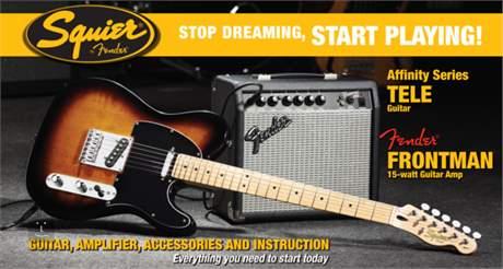 FENDER SQUIER Affinity Telecaster/Fender Frontman 15G Amp BS Kytarový komplet